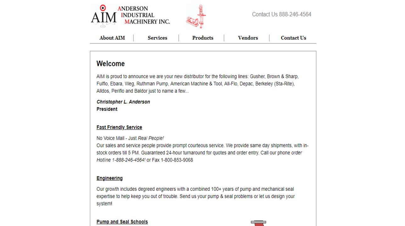 Anderson Industrial Machinery, Inc.