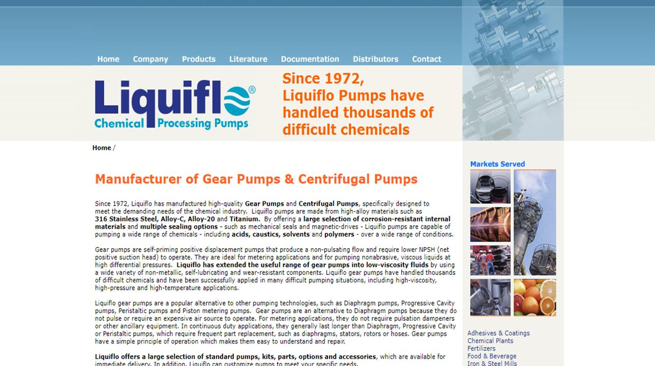 Liquiflo Chemical Processing Pumps