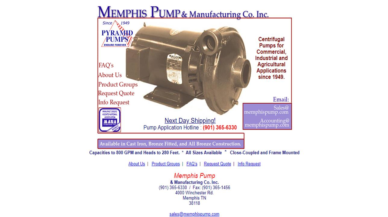 Memphis Pump & Manufacturing Co. Inc.